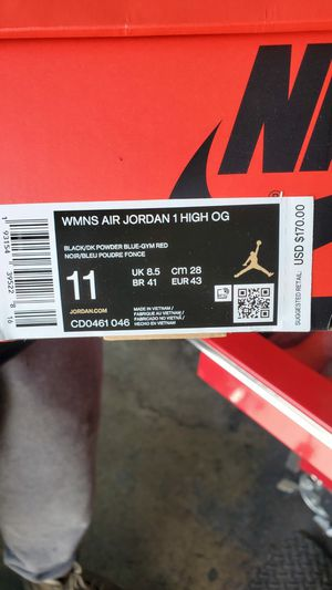 Jordan 1s Nc to chi size 11 men for Sale in Lynwood, CA