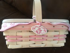 Longaberger limited edition hope basket for American Cancer Sociaty for Sale in Parkland, FL