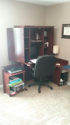 Computer Desk/Armoire-negotiable for Sale in Morgantown, WV