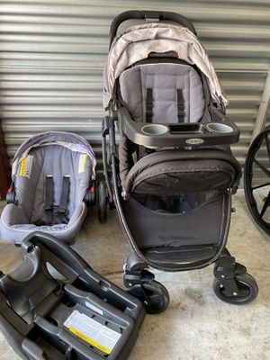 Graco stroller, car seat and booster set manufactured 6/17 for Sale in Union Park, FL