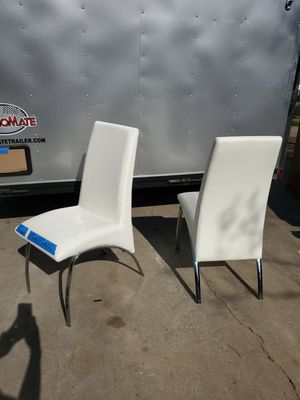 Pair of white high black accent chairs for Sale in Fresno, CA