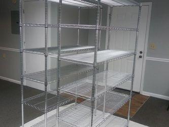 2 × Metal Shelf Racks In Great Condition for Sale in Nashville,  TN