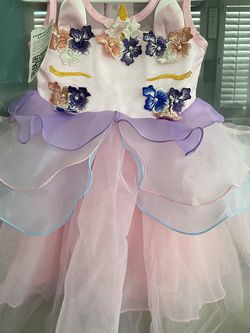 NEW WITH TAGS Baby Girls Size 3-4 Toddler Unicorn Cute Flower Fairy Costume Princess Dress up Birthday Pageant Party Wedding Dance Outfits for Sale in San Ramon,  CA