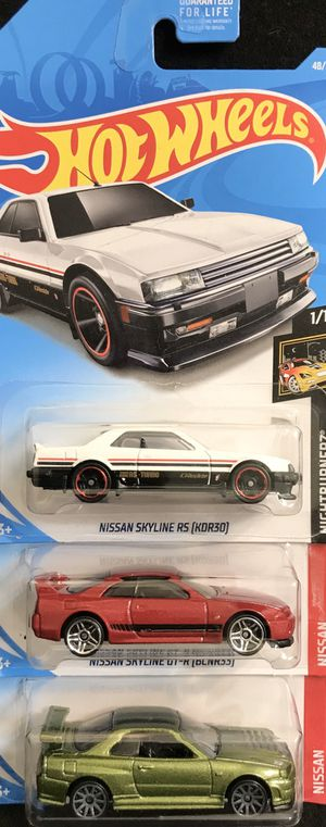 Hot Wheels NISSAN SKYLINE GT-R / RS Lot of 3 for $12 for Sale in El Cajon, CA