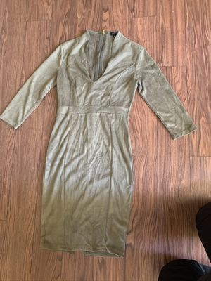 Suede green dress for Sale in Baltimore, MD