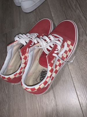 Red checkered vans for Sale in Bakersfield, CA