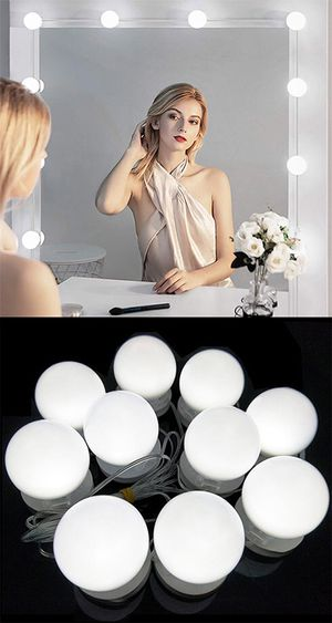 Brand new $20 DIY Vanity Mirror Kit 10pcs Dimmable LED Light Bulb Makeup Dressing Table (USB Connection) for Sale in Downey, CA