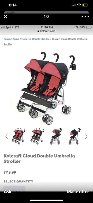 Kolcraft Double Stroller for Twins for Sale in West Covina, CA