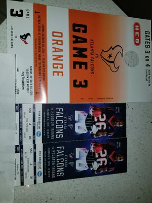 2 TEXANS TICKETS WITH PARKING PASS $300 for Sale in Houston Farms, TX