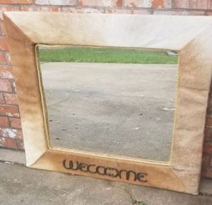 Cowhide Leather Mirror for Sale in Pasadena, TX