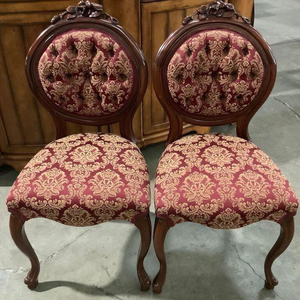 Beautiful Set Of Vintage Parlor Chairs - Delivery Available for Sale in Tacoma, WA