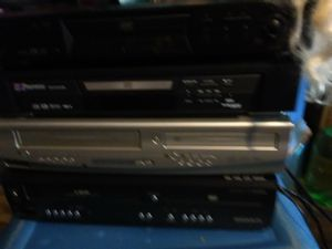 DVD player and VCR combinations one with the the remote all works 15$each or all for 50$ for Sale in Sioux City, IA