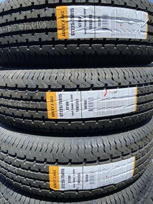 WEST LAKE Trailer tires ST225/75R15 $66 each new 8 ply trailer tires 225/75/15 8ply 225/75R/15 8ply special trailer tire for Sale in San Bernardino, CA