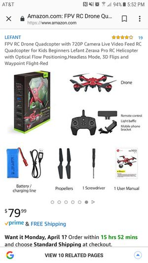Drone for Indoor/Outdoor for Sale in Elyria, OH