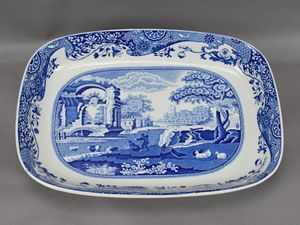 Spode Italian blue imperial cookware casserole pan (ceramic) for Sale in Honolulu, HI