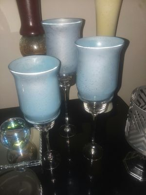 Bahama blue 2pc vase set for Sale in Peoria, IL