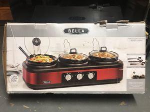 Bella - 3 - 2.5qt Crockpot Cook and Serve for Sale in Sterling, VA