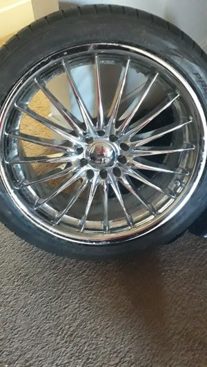 Rims with tires 19 inch universal for Sale in Lakewood, CO