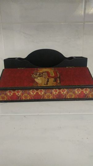 Arister Indian Elephant Style Print Desk Organizer for Sale in Gresham, OR