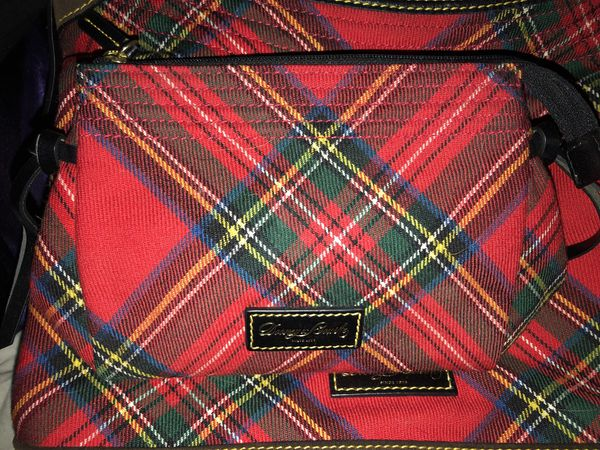 Plaid Dooney bag and matching bag. Heavy material.
