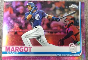 Manny Margot Tampa Bay rays topps chrome pink refractor for Sale in Cicero, IL