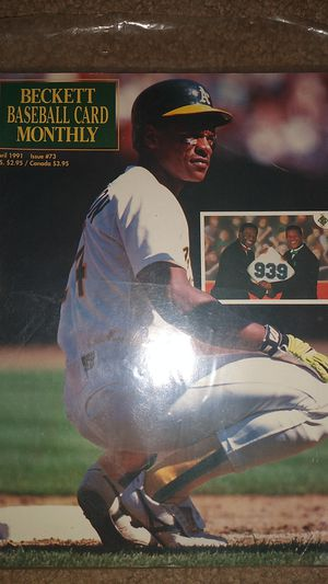 91 Beckett Baseball Card Monthly w Rickey Henderson on cover for Sale in Dallas, GA