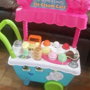 LIKE NEW! LEAPFROG LEARNING TOY FOR SALE! ICE CREAM LEARNING CART ( from 18 months to 4 years) for Sale in Miami, FL