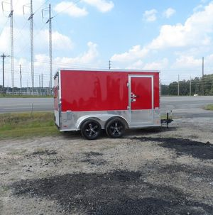 Enclosed/Utility/Good/Tires 2017 Red Covered Price $800 for Sale in Wichita, KS