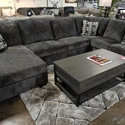 NEW, LARGE LAF Corner Chaise, SMOKE COLOR SECTIONAL. for Sale in Santa Ana,  CA