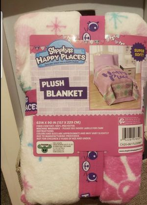 Shopkins happy place blanket for Sale in Los Angeles, CA