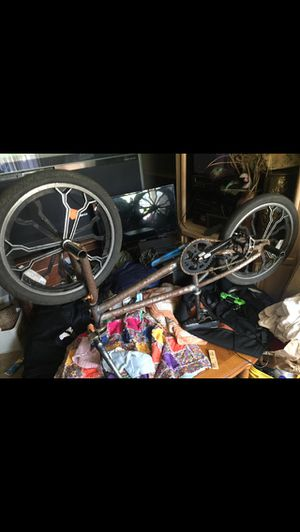Bmx bike with pegs and unique wheels selling asap for Sale in Happy Valley, OR