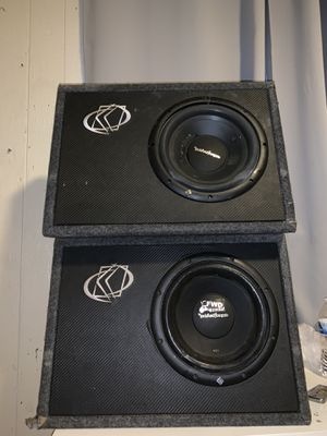 "Rockford fosgate 2 10"" subwoofers with kicker box for Sale in Magna, UT"