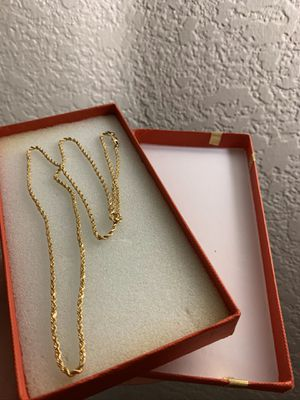 NEW * 24 inch 10k Gold Rope Chain for Sale in Fontana, CA