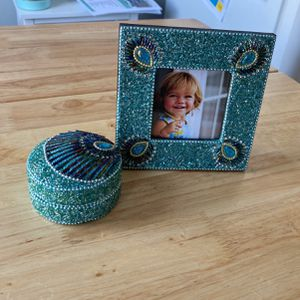 Peacock Frame And Jewelry Box for Sale in Tinton Falls, NJ