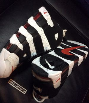 New Nike Air More Uptempo - White/Black/Red - Men's 9.5 with box for Sale in Los Angeles, CA