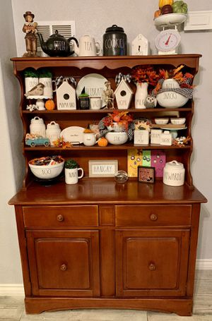 Beautiful Vintage Solid Cherry Wood Hutch for Sale in Fontana, CA