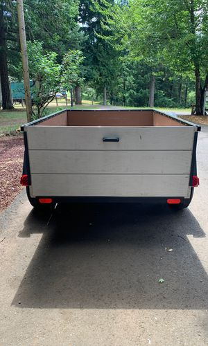 Utility Trailer 4.8ft x 7.2ft Spare Tire. New Wood, New Trailer Jack, and New Lights. for Sale in Newberg, OR
