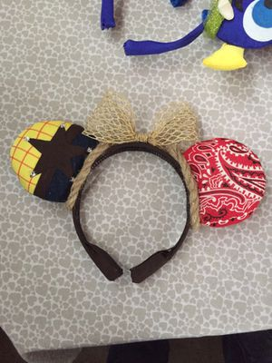 Toy story ears Disney Mickey ears handcracfted for Sale in Palo Alto, CA
