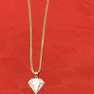 Italian 10k gold chain with charm for Sale in Miami, FL