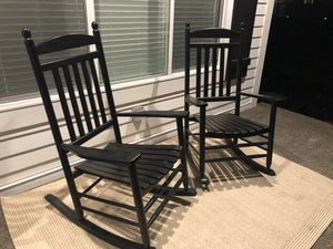 2 Wooden Rocking Chairs for Sale in Puyallup, WA