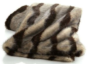 NEW Adrienne Landau Faux Fur MARABOU Animal 50x70 Throw Blanket for Sale in Largo, FL