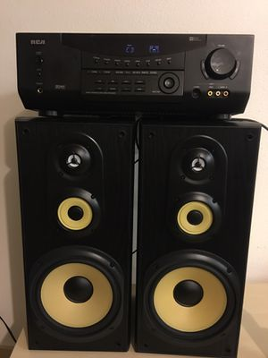RCA Receiver/Sony speakers for Sale in Seattle, WA