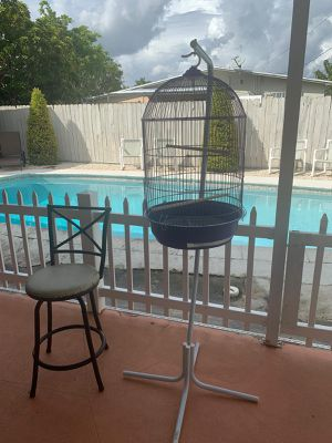 Parrot cage with stand included for Sale in Miami, FL