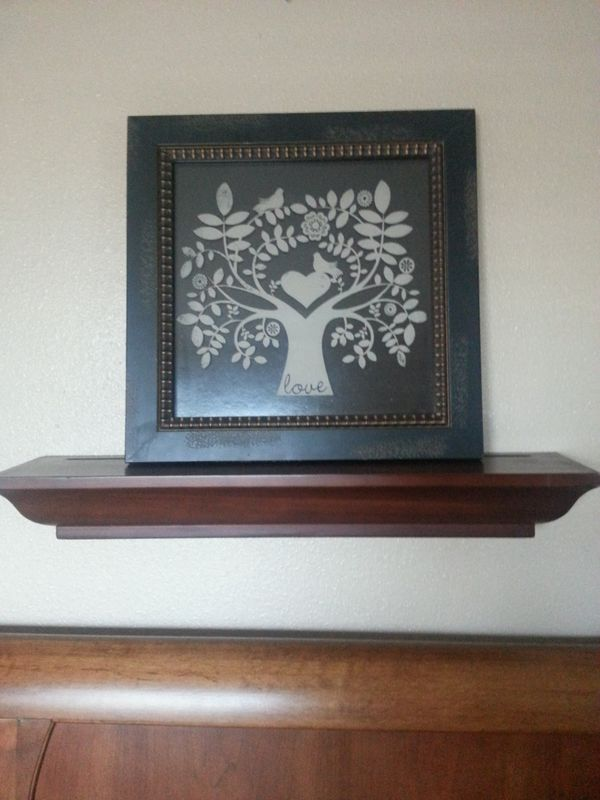 "Beautiful wall decor measures 15""x15"" shelf not included"