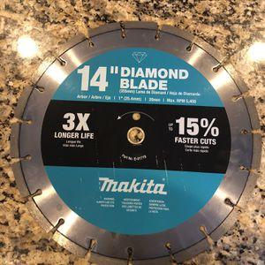 Makita 14 Inch Diamond Blade for Sale in Lynn, MA