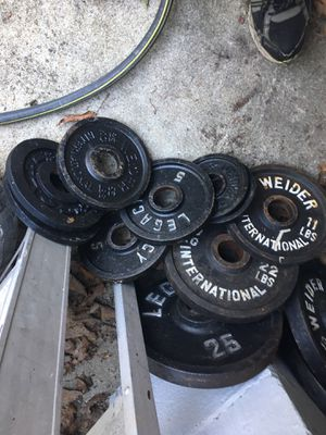 Olympic weights about 235 lbs for Sale in Howell Township, NJ