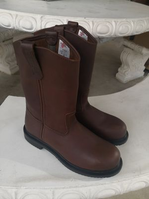 New red wings pecos steel toe work boots size 9 for Sale in Riverside, CA