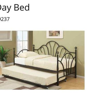 BRAND NEW TWIN SIZE BED WITH TRUNDLE ADD MATTRESS ADD FURNITURE ONE LEFT... HH6 for Sale in Pomona, CA
