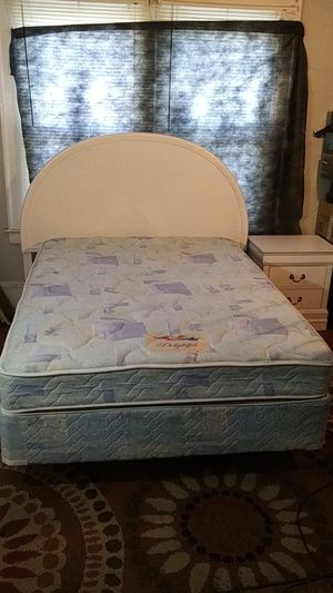 Full size bed complete! Headboard, metal frame Super clean mattress. No stains! Reduced $150 to $125. Can have nightstand free with bed. for Sale in High Point, NC