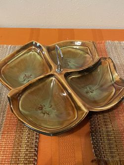 Maurice of California pottery divided serving dish for Sale in West Linn,  OR